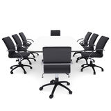 Office chairs and round table Stock Photography