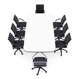 Office chairs and round table Royalty Free Stock Photos