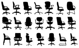 Office chairs silhouettes vector illustration Royalty Free Stock Image