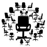 Office chairs silhouettes vector illustration Stock Photography