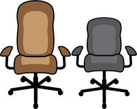 Office Chairs vector royalty free illustration