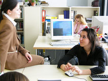 Office chat Royalty Free Stock Image