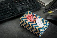 Office Christmas concept, secret Santa Stock Image