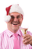 At the office christmas party. Man bringing out a toast at the office christmas party Stock Photography