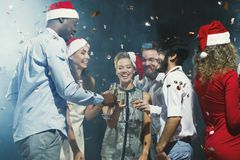 Office new year party. Young people having fun Royalty Free Stock Image