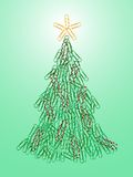 Office Christmas tree Stock Images