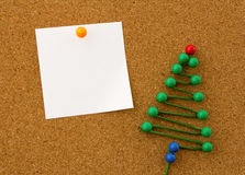 Office christmas tree Royalty Free Stock Images