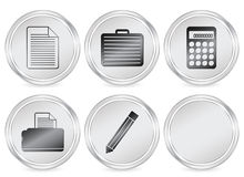 Office circle icon Royalty Free Stock Image