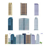 Office city building. Downtown landscape, skyline. Office Buildings vector illustration. Royalty Free Stock Photos