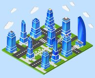 Office city center industry planning Stock Image