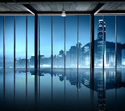 Office Cityscape Buildings Contemporary Interior Room Modern Co Royalty Free Stock Photos