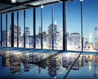 Office Cityscape Builidings Contemporary Interior Modern Concept Stock Image