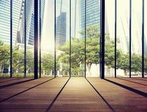 Office Cityscape Builidings Contemporary Interior Room Concept Royalty Free Stock Photos