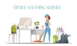 Office Cleaning Service Design Concept Royalty Free Stock Photo
