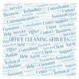 Office Cleaning Services word cloud. Wordcloud made with text only stock photo