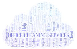 Office Cleaning Services word cloud. vector illustration