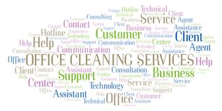 Office Cleaning Services word cloud vector illustration
