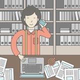 Office clerk Royalty Free Stock Photos