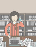 Office clerk Royalty Free Stock Photography