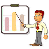 Office clerk and chart Stock Image