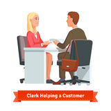 Office clerk working with customer Stock Photography