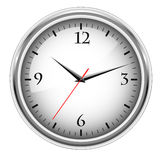 Office clock. Grey office clock on white background Royalty Free Illustration