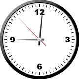 Office clock. A vector illustration. It is isolated on a white background Stock Images