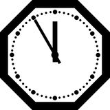 Office clock. A vector illustration. It is isolated on a white background Royalty Free Stock Image