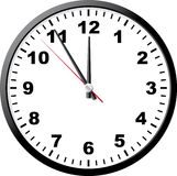 Office clock. A vector illustration. It is isolated on a white background Stock Photos