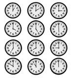 Office clock. Modern designe office clock for full day Stock Photography