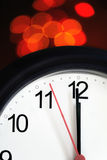 Office Clock About To Show Midnight Royalty Free Stock Image