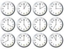 Office clock all times stock illustration