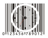 Office clock in barcode Royalty Free Stock Photos