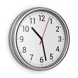 Office clock on wall Royalty Free Stock Photos
