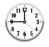 Office clock. Wall office clock  on the white Royalty Free Stock Image