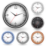 Office clocks. Colorfull collection of office clocks vector illustration