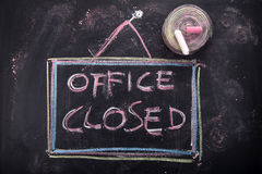 Office closed Royalty Free Stock Photos