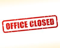 Office closed text buffered. Illustration of office closed text buffered on white background vector illustration