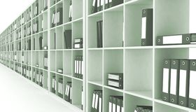 Office closet. On a white background Royalty Free Stock Photos