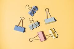Office clothespins clips stock images