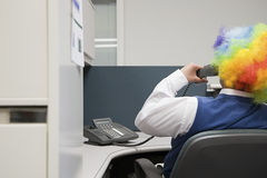Office clown royalty free stock images
