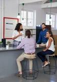 Office coffee break coworkers Stock Images
