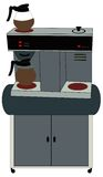 Office coffee machine royalty free illustration