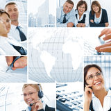Office collage Stock Photos