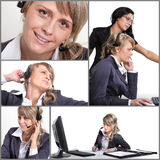 Office Collage Royalty Free Stock Images