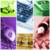 Office collage Royalty Free Stock Photo