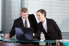 Office colleagues talking Stock Images