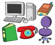 Office collection. On white backgound - vector illustration Royalty Free Stock Photography