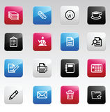 Office color icons Stock Images