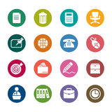 Office Color Icons Royalty Free Stock Images